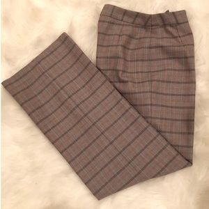 HARVE BENARD Chic Checkered 100% Wool Trousers